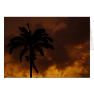 Jamaikanische Palme Karte