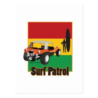 Jamaikanische Rasta Surfpatrol Buggy Postkarte