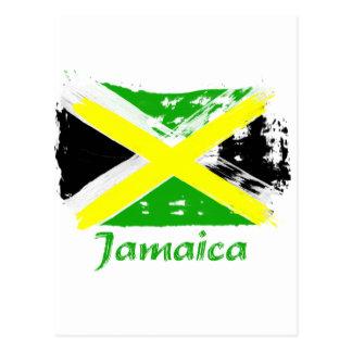 Jamaikanische Schmutzflaggenentwürfe Postkarte