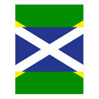 Jamaikanische schottische Flagge - Jamaika - Postkarte