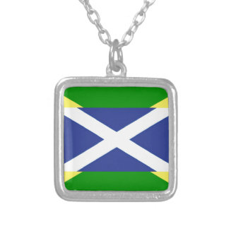 Jamaikanische schottische Flagge - Jamaika - Versilberte Kette