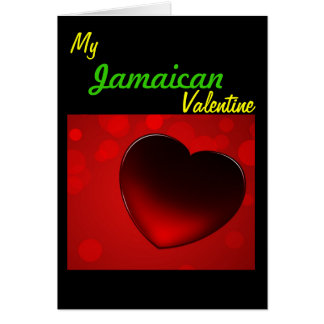Jamaikanische Valentinsgruß-Karte Karte