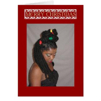 Jamaikanische Weihnachtskarte Karte