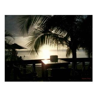 Jamaikanischer Sonnenuntergang in Negril Postkarte