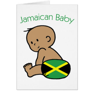 Jamaikanisches Baby Karte