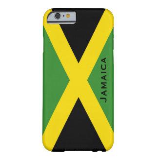 Jamaikanisches Flaggen-Schwarz-Grün-Gelb Jamaika Barely There iPhone 6 Hülle