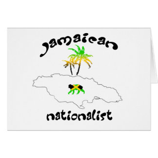 Jamaikanisches nationalistisches Logo Karte