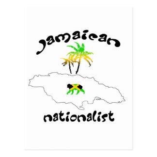 Jamaikanisches nationalistisches Logo Postkarte
