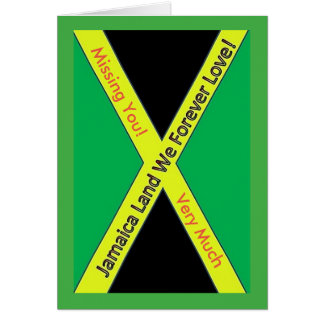 Jamaikanisches vermisstes kardieren Sie Karte