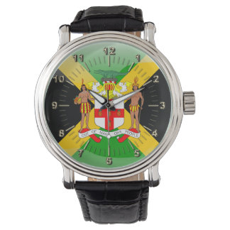 Jamaikanisches Wappen Uhr