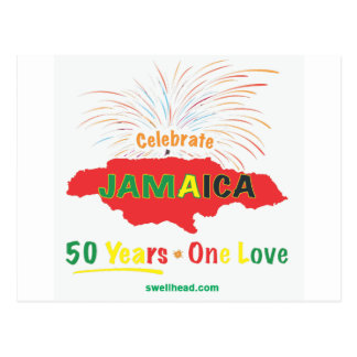 Jamaikas 50. Jahrestag durch Roxanne/Swellhead Postkarte
