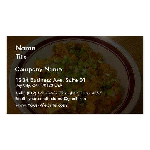 Jambalaya, der Abendessen-Nahrung kocht Visitenkartenvorlage