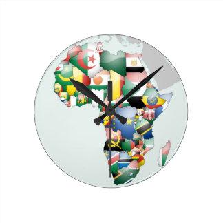 Jambo Habari Afrika schöne hallo-Mutter Afrika Runde Wanduhr