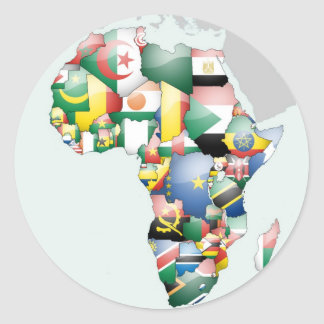 Jambo Habari Afrika schöne hallo-Mutter Afrika Runder Aufkleber