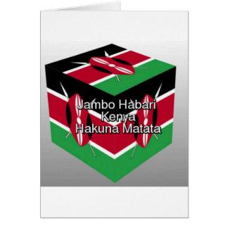 Jambo Habari! Kenia Hakuna Matata Karte