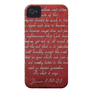 James-1:19 Schrifts-Geschenk iPhone 4 Case-Mate Hülle