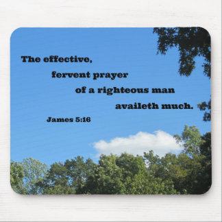 James-5:16 das effektive, inbrünstiges Gebet… Mousepad