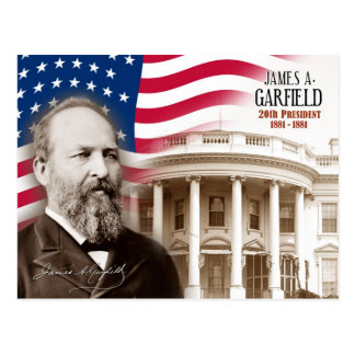 James A. Garfield - 20. Präsident der US Postkarte