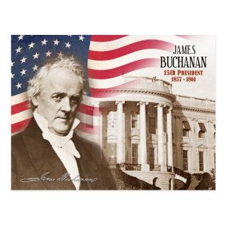 James Buchanan - 15. Präsident der US Postkarte