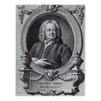 James Gibbs, graviert von Bernard Baron, 1747 Postkarte