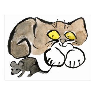 James hat eine Maus durch sie ist Schwanz Postkarte