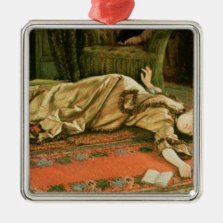James Jacques Joseph Tissot   verlassen Quadratisches Silberfarbenes Ornament