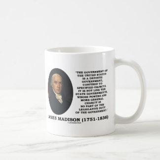 James Madison Govt von Vereinigten Staaten Kaffeetasse