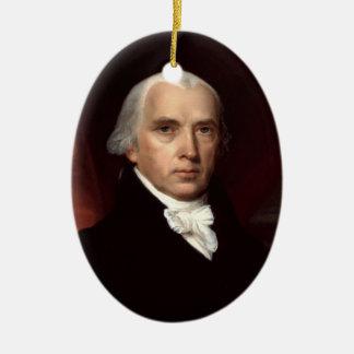 James Madison Keramik Ornament