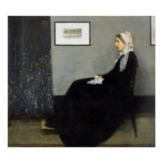 JAMES-PFEIFER - Anordnung im Grau und im Schwarzen Poster