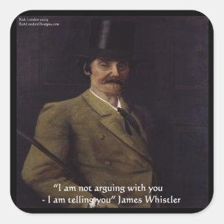 """James-Pfeifer """"ich erkläre Ihnen"""" zu zitieren Quadratischer Aufkleber"""