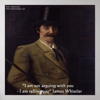 """James-Pfeifer """"ich sage Ihnen"""" Zitat-Plakat Poster"""