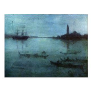 James Pfeifer-Notturno im Blau und im Silber, Postkarte