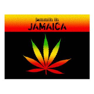 Jammin in Jamaika-Reggae Rasta Postkarte