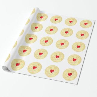 Jammy Dodger-Keks-illustriertes Verpackungs-Papier Geschenkpapier