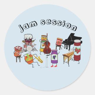 Jamsession-Aufkleber Runder Aufkleber