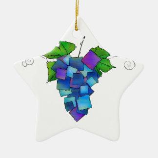 Jamurissa - quadratische Trauben Keramik Ornament