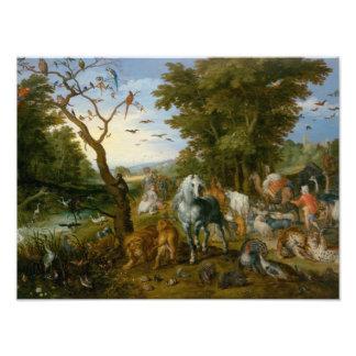 Jan Brueghel das Älteste - der Eintritt der Tiere Kunst Photo