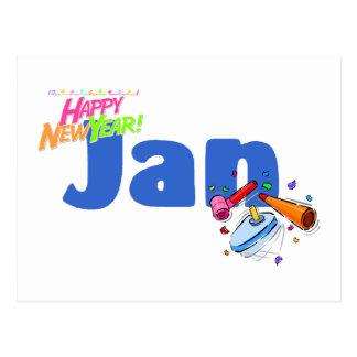 Jan. (guten Rutsch ins Neue Jahr) Postkarte
