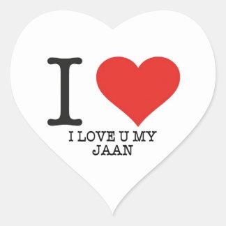 Jan.-Herz-Aufkleber der Liebe I, glatt, klein, 1 ½ Herz-Aufkleber