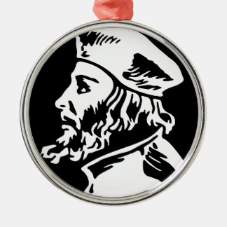 Jan Hus Silbernes Ornament
