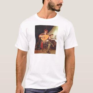Jan. Steen. Selbstporträt, das den Dichtungskitt T-Shirt