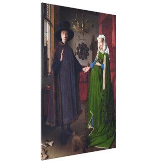 JAN VAN EYCK - Arnolfini Porträt 1434 Leinwanddruck