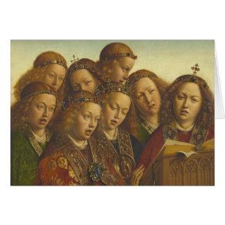 Jan van Eyck, der Engel Gent CC0835 singt Karte
