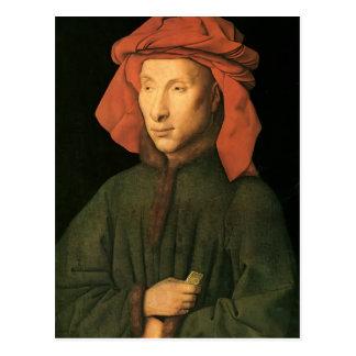 Jan. van Eyck- Portrait von Giovanni Arnolfini Postkarte