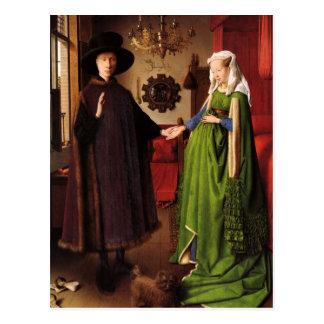 Jan. Van Eyck Protrait von Giovannit Arnofini u. Postkarte