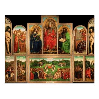 Jan. van Eyck- The Gent Altarpiece Postkarte