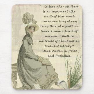 Jane Austen-Buch-Liebhaber Mousepad