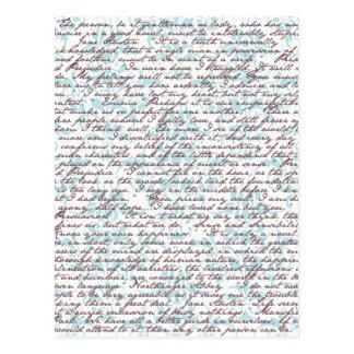 Jane Austen-Damast Postkarte