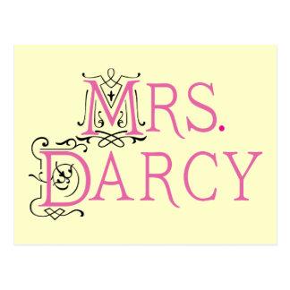 Jane Austen-Frau Darcy Gift Postkarte