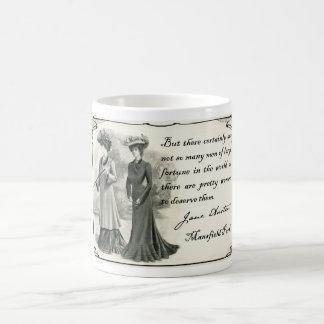 Jane Austen: Hübsche Frauen Kaffeetasse
